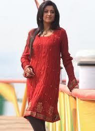 red designer kurti for ladies