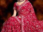 lehenga saree in red color for bridal