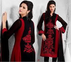 designer salwar kameez in black