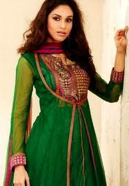 designer salwar kameez designer green