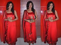 designer salwar suit in red