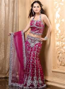 latest lehenga saree in pink color