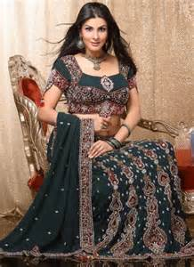latest lehenga style saree